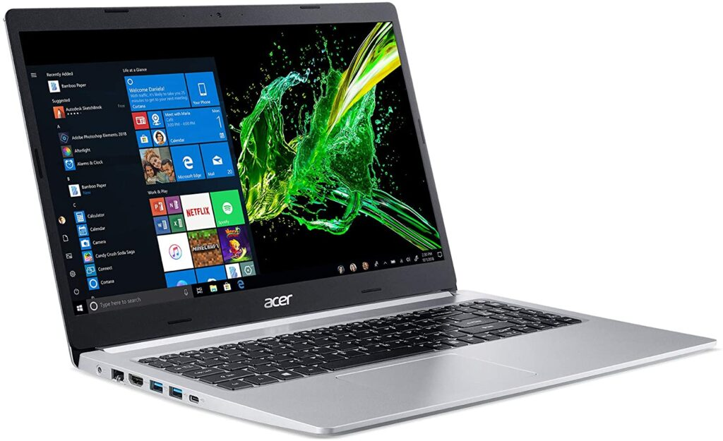 Acer Aspire 5: Best high-performance laptop for programming and gaming in the section.