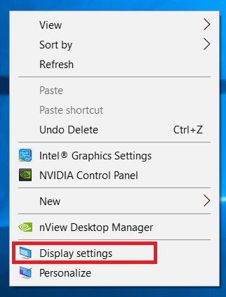 When you do the right click on your desktop, this menu opens