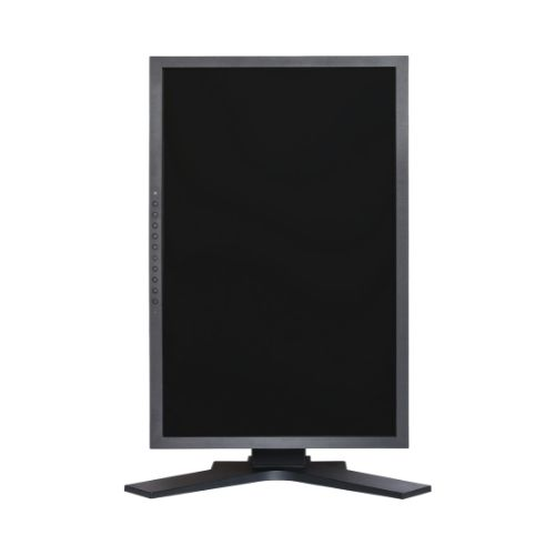 A monitor in a vertical orientation